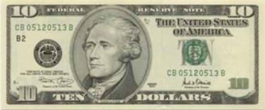 cédula 10 dólares