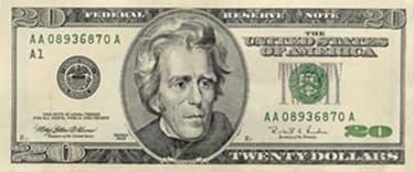 cédula 20 dólares