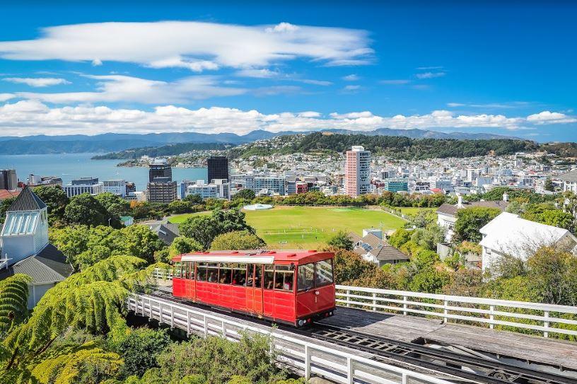 imagem de uma cidade de nova zelândia