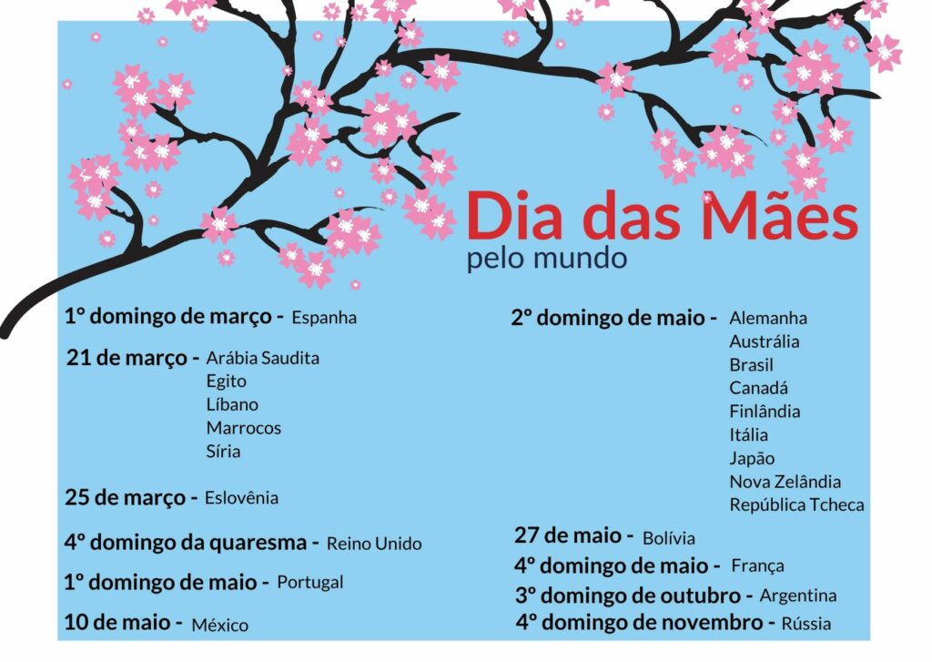 Calendário Dia das Mães