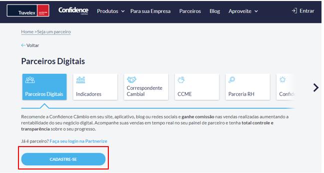 Parceiro digital Travelex Confidence
