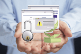 Alerta de segurança online - mobile